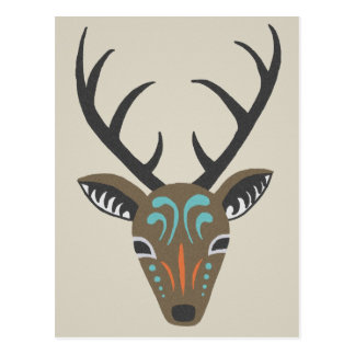 Deer Antler Modern Wildlife Tribal Totem Card