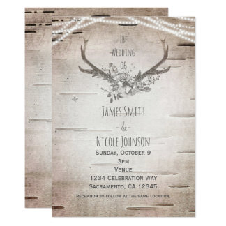 Deer Antler Wedding Invitations & Announcements | Zazzle.com.au