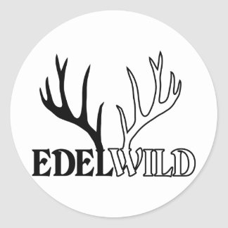 deer antlers deer antlers bachelors steam turbine  classic round sticker
