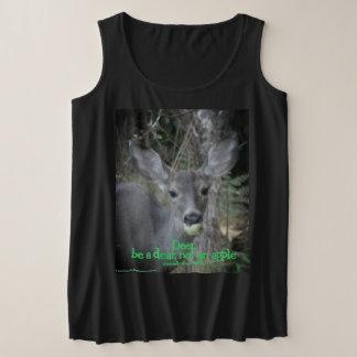 Deer Apple Plus Size Tank Top