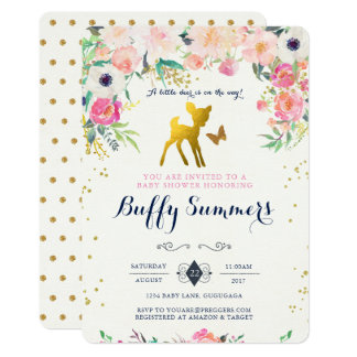Deer Baby Shower Invitation
