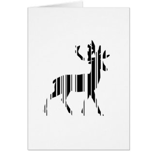 DEER BAR CODE Stag Barcode Pattern Design Card