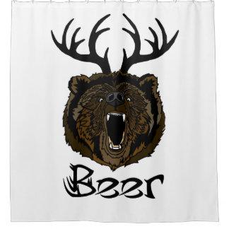 Deer + Bear = Deer Shower Curtain