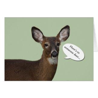 Deer birthday greeting card