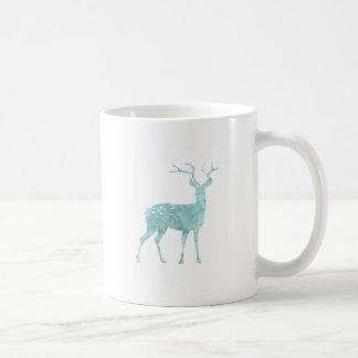 Deer Blue Watercolor Mugs