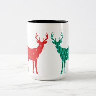 Deer Buck Christmas Pattern - Mug
