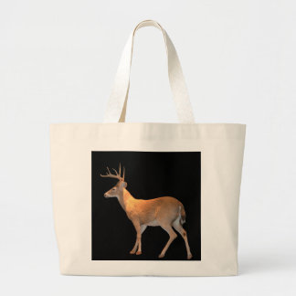 Deer (Buck) White-Tailed Large Tote Bag