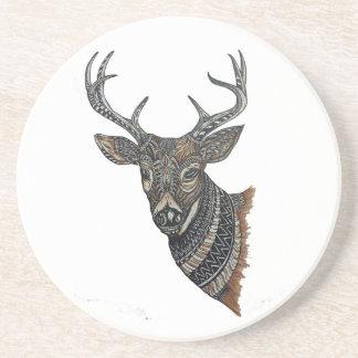 Deer Buck with Intricate Design Coaster