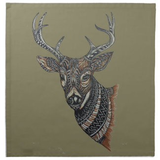 Deer Buck with Intricate Design Napkin