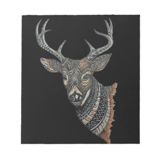 Deer Buck with Intricate Design Notepads