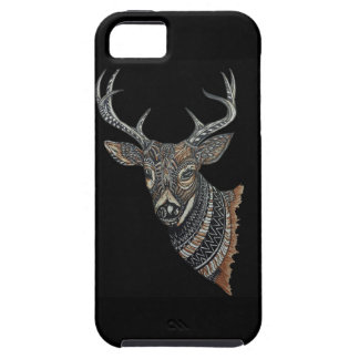Deer Buck with Intricate Design Tough iPhone 5 Case