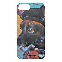 Deer Chihuahua mascot art iPhone cover