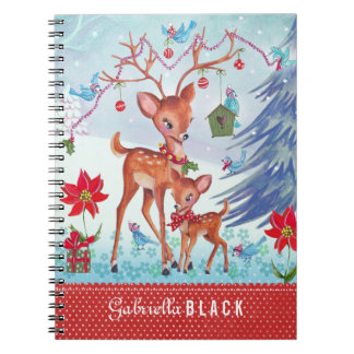 Deer Christmas Birds - Photo Notebook