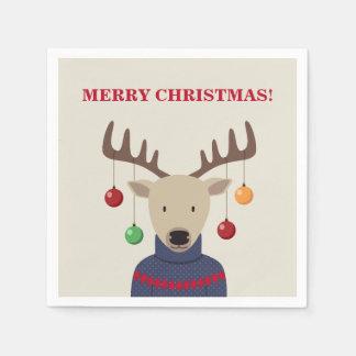 Deer Christmas Disposable Serviette