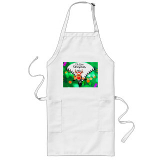 Deer Christmas is Here Holiday  Gift Long Apron