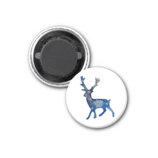 Deer Christmas Small, 3.2 Cm Round Magnet