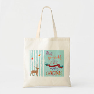 Deer Christmas Tote Bag