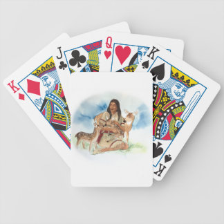 Deer Clan Mother With Her Fawns Bicycle Playing Cards