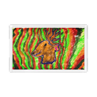 deer cool art acrylic tray