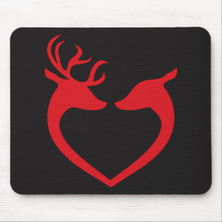 deer couple heart mousepad
