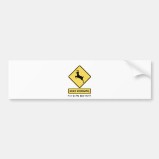 deer crossing bumper sticker