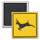 Deer Crossing Highway Sign Magnet