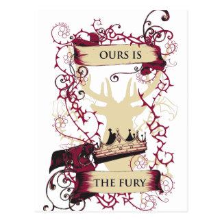 deer crown our is the fury postcard