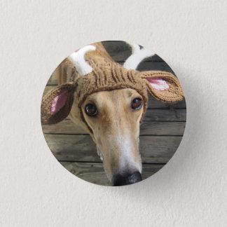 Deer dog - cute dog - whippet 3 cm round badge