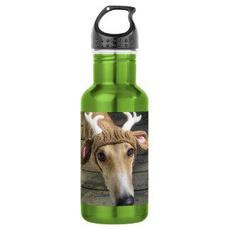 Deer dog - cute dog - whippet 532 ml water bottle