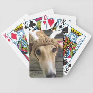 Deer dog - cute dog - whippet bicycle playing cards