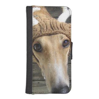 Deer dog - cute dog - whippet iPhone SE/5/5s wallet case