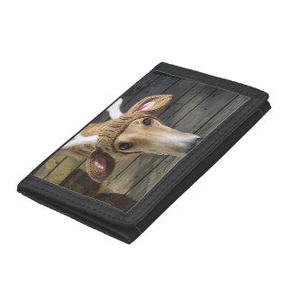 Deer dog - cute dog - whippet trifold wallet