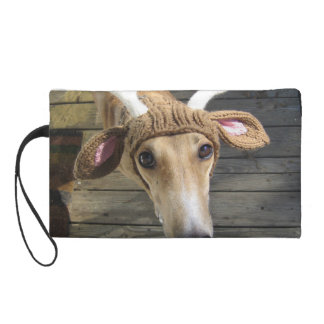Deer dog - cute dog - whippet wristlet