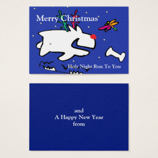 Deer Dog's Holy Night Run with Dragonfly Business Card