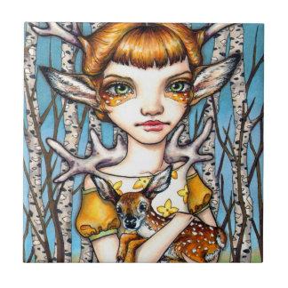 Deer Dorothy Ceramic Tile