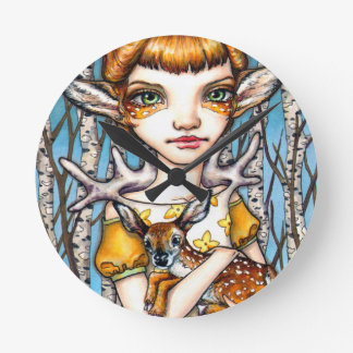 Deer Dorothy Round Clock