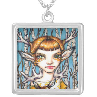 Deer Dorothy Silver Plated Necklace