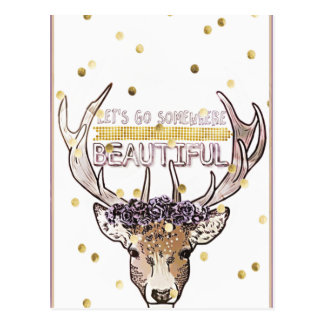 Deer Explorer Postcard