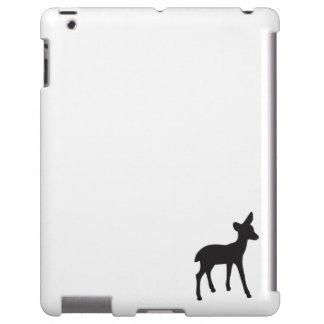 Deer fawn black white silhouette kawaii cute