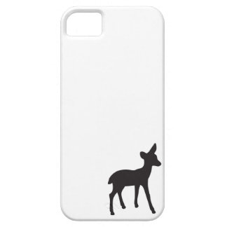 Deer fawn black white silhouette kawaii cute iPhone 5 covers