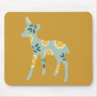 Deer fawn country pattern silhouette mouse pad
