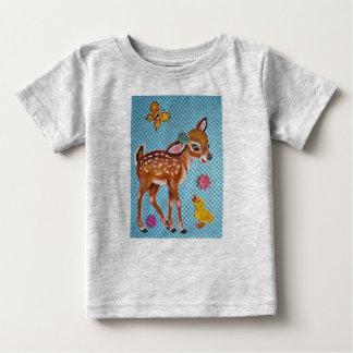 Deer Fawn & Duckling Original Art Kids' T Shirt