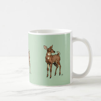 Deer Fawn on mint background Coffee Mug
