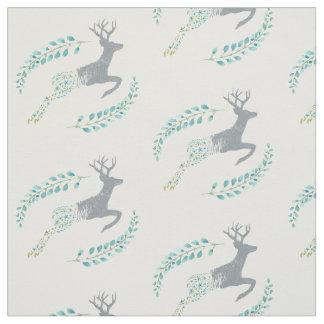 Deer Floral Fabric