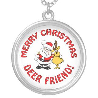 """Deer Friend"" Christmas necklace"
