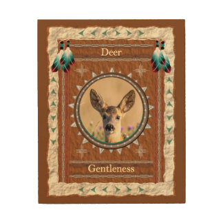 Deer -Gentleness- Wood Canvas