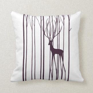 Deer ghost throw pillow