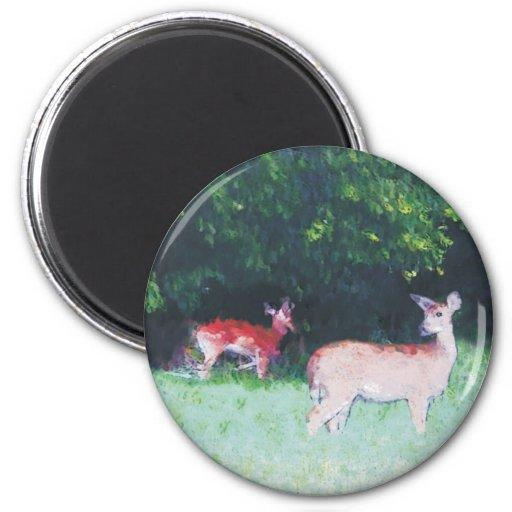 deer grazing fridge magnets