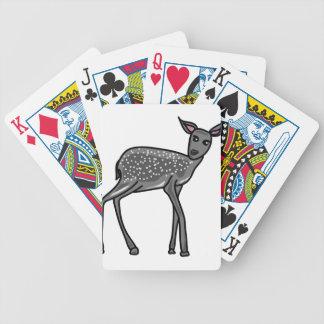 Deer Grey Bicycle Playing Cards