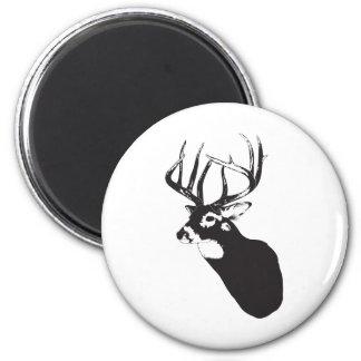 Deer Head 6 Cm Round Magnet